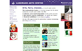 Front page: Landmark Arts Centre for music, visual arts, fairs