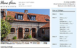 Cottage page, Weybourne Home Farm Holiday Cottages